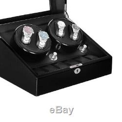 Automatic Rotation 4+6 Watch Winder Display Box Case with LED light USA STOCK