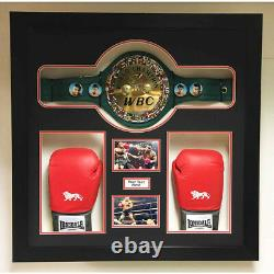 Boxing Championship Belt Glove 3D Box Display Case For Any Boxing Belt and Glove