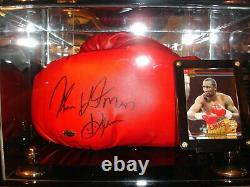 Boxing Glove Clear Display Case with Gold Risers Fits 1 or 2 Gloves (A011-GR)