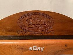 CASE XX KNIFE Oak Countertop Dealer Display Case 8 NOS POCKET KNIVES withBoxes