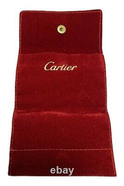 Cartier Ring Box Case Empty Display Presentation certificate Pouch Auth 005