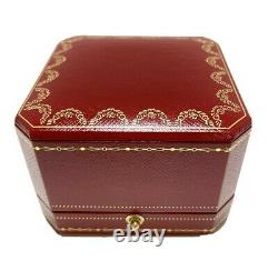 Cartier Ring Box Case Empty Red Display Presentation With certificate Auth 010