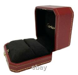 Cartier Ring Box Case Empty Red Display Presentation, certificate, Shop bag 004