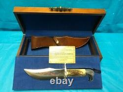 Case XX 1976 Bicentennial Double Eagle Bowie Knife in Display Wood Box