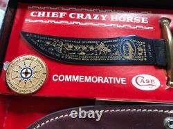 Case XX Knife Fixed Blade Kodiak Hunter Chief Crazy Horse CCH 3494 withDisplay Box