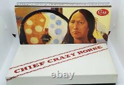 Case XX Knife Fixed Blade Kodiak Hunter Chief Crazy Horse Cch #219 Display Box