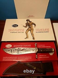 Case XX Stag Bowie Knife 1980 Unused Fixed Blade 10 Dot Original Box, Display