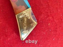 Case XX USA 1984 mint in display box turquoise Buffalo Hunter lockback knife