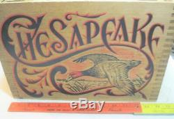 Chesapeake Wooden Ammo Box Advertising Duck Wood Case Crate Display Box