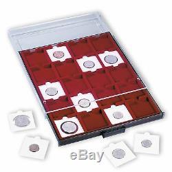 Coin Collection Aluminum Box Cargo Travel Show Case Display Box Storage Quadrum
