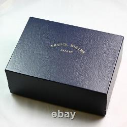 Collectible Franck Muller Black Leather Trunk Display Case & Outer Box