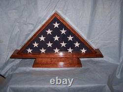 Collectibles Military Veteran Memorial Burial Flag Display Case, Shadow box