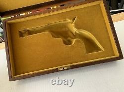 Colt SAA 100th NRA Centennial Revolver Presentation Display Wood Box No Key