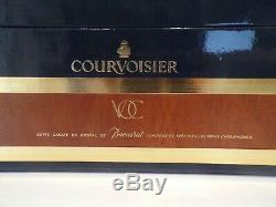 Courvoisier VOC Napoleon Cognac Baccarat Crystal Decanter Display Box Case