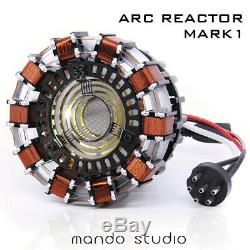 DIY Master Grade Iron Man MK1 USB Remote Arc Reactor Display Box Stand Case