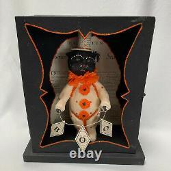 Dee Foust Bethany Lowe Designs Black Halloween Cat BOO Display Case Rare
