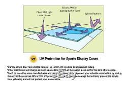 Deep Sports Jersey Shadow Box Display Case Cabinet Baseball Bat Balls Trophies