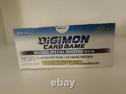 Digimon Booster Box Display Special ver. 1.0 BT01-03 English CASE 12 DISPLAYS