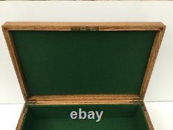 Display Case Box Storage Vintage Wooden