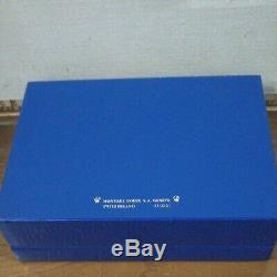 Empty Watch Jewelry Case ROLEX Storage Box Display Blue Good Condition F/S JAPAN