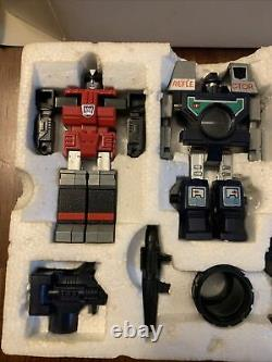 G1 Transformers Reflector Complete With Box UNUSED STICKERS & Display Case