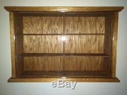 Hand Crafted Oak Display Case Match Box Hot Wheels 1/18 Scale Die Cast NASCAR