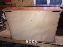 Hand Crafted Oak Display Case Match Box Hot Wheels 1/24 Scale Die Cast NASCAR