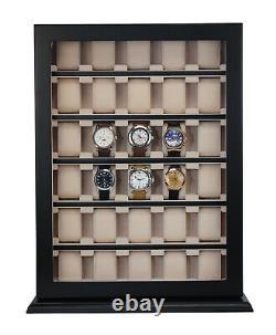 Hand Made 30 Watch Cabinet Luxury Case Storage Display Box Jewellery Watches 51