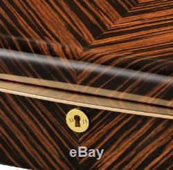 High Quality VOLTA Ebony Wood 10 Watch Display Case / Storage Box Black Interior