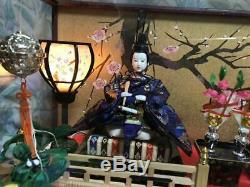 Hina doll displayed at Girls Festival imperial palace glass case music box