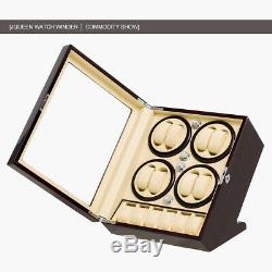 Hot Automatic Anti-magnet 8+6 Rotation Watch Winder Box Case Display NEW