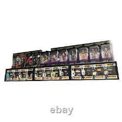 IN BOX 15 Single Row Display Cases for Funko Pops, Black Cardboard