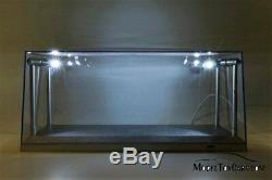 Illuminated LED Display Cases for 1/18 Scale Diecast Cars BOX OF 6 CASES