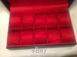 Invicta Watch Display Case 10 Slot Red Russian Diver Collectors Box