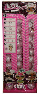 L. O. L Surprise Glitter Glam 4 Foot Tall Display Case Of 36 Lol Balls! Real Mga