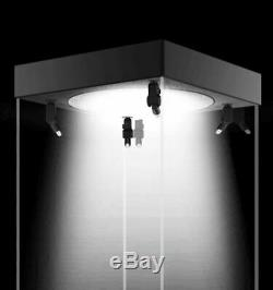 LED Display Case Box with Mirror & Rotating Base 40x20x20cm For 1/6 Hot Toys