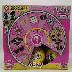 LOL Surprise Confetti Pop Series 3 Wave 2 Full Display Case Box 18 Doll Balls