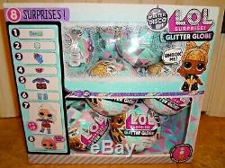 LOL Surprise Dolls Winter Disco Glitter Globe 12 Balls Full Case With Display Box