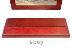 Large 20 Wrist Watch Storage Cabinet Chest Box Display Budinga Wood Case Matt