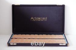 Large Antique/Vintage Artcarved Ring Display Box 96 Slots Velvet Jewelers Case