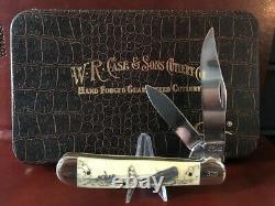 Limited Edition Case Knife, Bone Trapper, Mobie Dick Scrimshaw & Display Box