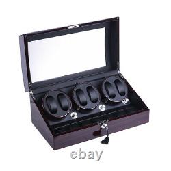 Luxury Automatic Rotation Watch Winder Display Box 6+7 Leather Storage Case