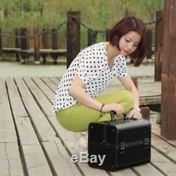 Luxury Cosmetic Organizer Box Case Makeup Bag Travel Beauty Professional Display