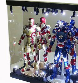 MB Acrylic Display Case Light Box for TWO 12 1/6th Scale Avengers Action Figure