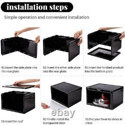 Magnetic Shoe Organizers Box Sneaker Storage Case Container Stackable Display US