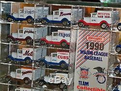 Matchbox 1990 MLB Team Trucks in Display Case-WithBoxes 26 In All/MINT