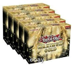 Maximum Gold Case 2020 YuGiOh! 5 boxes in display case PRESALE! SHIPS NOV 13, 20