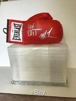 Mike Tyson Hof Autographed Glove And Display Case