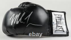 Mike Tyson Signed Autographed Black Boxing Glove With Custom Display Case + COA
