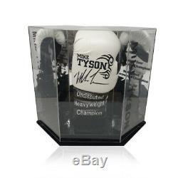Mike Tyson Signed Boxing Glove World Champion in Diamond Shape Display Case COA
